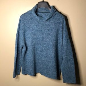 Eileen fisher oversized mock neck sweater